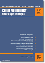okładka czasopisma Child Neurology